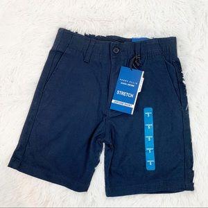 Perry Ellis boys stretch khaki uniform shorts navy